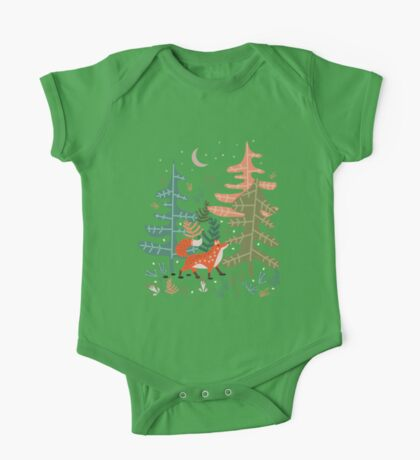 Evergreen Fox Tale One Piece - Short Sleeve