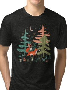 Evergreen Fox Tale Tri-blend T-Shirt