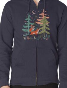 Evergreen Fox Tale Zipped Hoodie