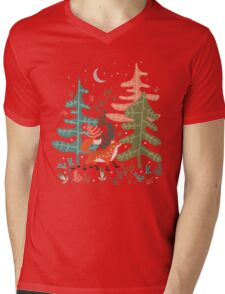 Evergreen Fox Tale Mens V-Neck T-Shirt