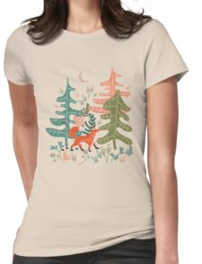 Evergreen Fox Tale Womens Fitted T-Shirt