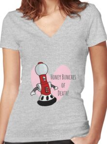 Honey Bunches of Death Women's Fitted V-Neck T-Shirt
