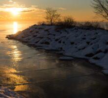 Sunshine on the Ice - Lake Ontario, Toronto, Canada Sticker