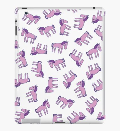 Ponies - Lilac on white iPad Case/Skin