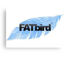 FATbird feather logo Canvas Print