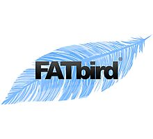 FATbird feather logo Photographic Print