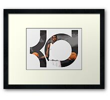 Kevin Durant ball in hands Framed Print