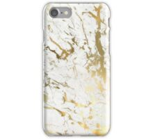 White and Gold Vein Marble iPhone Case/Skin
