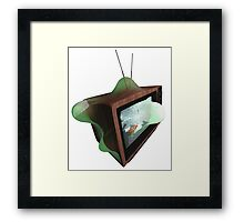 Warped Retro TV Framed Print