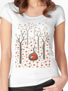 Sleeping Fox Women's Fitted Scoop T-Shirt