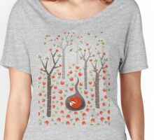 Sleeping Fox Women's Relaxed Fit T-Shirt