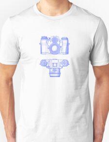 Vintage Photography - Contarex - Blue Unisex T-Shirt