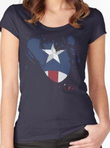 Ripped Star Spangled  Women's Fitted Scoop T-Shirt