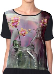 Still Life With Ribbed Glass Chiffon Top