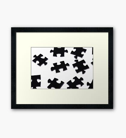 Puzzle Pieces Framed Print