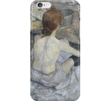 Henri de Toulouse-Lautrec  - Rousse (1889) Woman Portrait Fashion iPhone Case/Skin