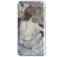 Henri de Toulouse-Lautrec  - Rousse (1889) Woman Portrait Fashion iPhone Case/Skin