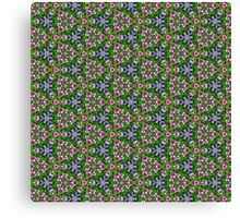 Pattern 115: pink and purple flowers Canvas Print