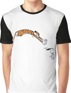 Snoopy And Hobbes Graphic T-Shirt