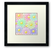 Multi-colored Flower Pop Framed Print