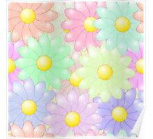 Multi-colored Flower Pop Poster