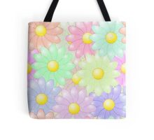 Multi-colored Flower Pop Tote Bag