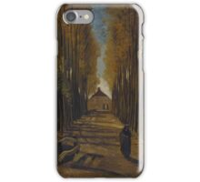 Vincent Van Gogh - Avenue of poplars in autumn, 1884 iPhone Case/Skin