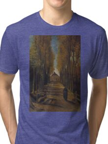 Vincent Van Gogh - Avenue of poplars in autumn, 1884 Tri-blend T-Shirt