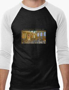 Grand Central Terminal NYC Men's Baseball ¾ T-Shirt