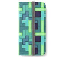 Blue Tetris iPhone Wallet/Case/Skin