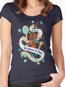 Sailor Neptune Banner Women's Fitted Scoop T-Shirt