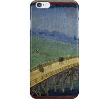 Vincent Van Gogh  - Bridge in the rain after Hiroshige, 1887 iPhone Case/Skin