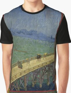 Vincent Van Gogh  - Bridge in the rain after Hiroshige, 1887 Graphic T-Shirt
