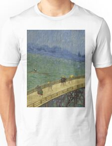 Vincent Van Gogh  - Bridge in the rain after Hiroshige, 1887 Unisex T-Shirt