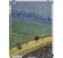Vincent Van Gogh  - Bridge in the rain after Hiroshige, 1887 iPad Case/Skin