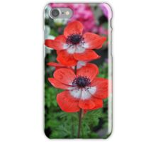 Two red poppy flowers iPhone Case/Skin