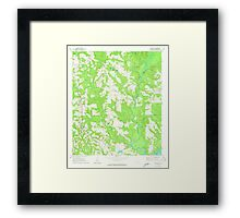 USGS TOPO Map Alabama AL Red Level 304927 1971 24000 Framed Print