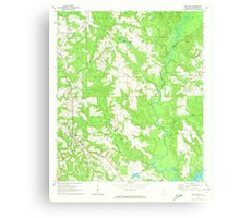 USGS TOPO Map Alabama AL Red Level 304927 1971 24000 Canvas Print