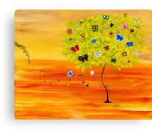 Butterfly Tree Canvas Print