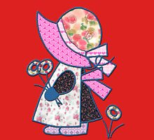 Cute and pretty patchwork sunbonnet Womens Fitted T-Shirt