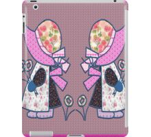 Cute and pretty patchwork sunbonnet iPad Case/Skin
