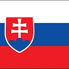Slovakia Flag Stickers by Mark Podger