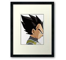 Vegeta Face Framed Print
