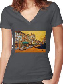 Bandon, Cork Women's Fitted V-Neck T-Shirt