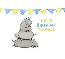Hippo Birthday Photographic Print