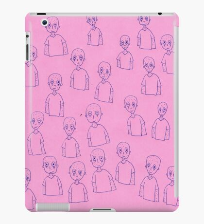 Unsettling Potato Men in Gel Pen iPad Case/Skin