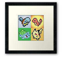 Pixel Poke & Friends  Framed Print