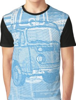 Blue Bay Campervan Montage Graphic T-Shirt