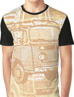 Brown Bay Campervan Montage Graphic T-Shirt
