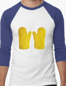 Oven Gloves Yellow Men's Baseball ¾ T-Shirt